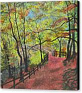 The Red Path Canvas Print by Leo Gehrtz