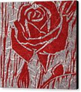 The Red Rose Canvas Print by Marita McVeigh