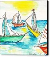 The Regatta Canvas Print