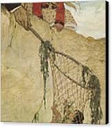 The Rescue Circa 1916 Canvas Print