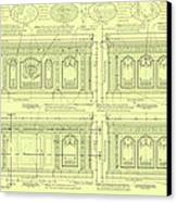 The Resolute Desk Blueprints - Soft Yellow Canvas Print by Kenneth Perez