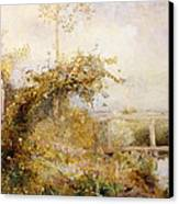 The Return From The Harvest Field Canvas Print by John William North