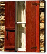 The Reynold's Cabin Window Canvas Print