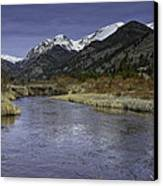 The River Flows Canvas Print by Tom Wilbert