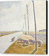 The Road To Nieuport Canvas Print