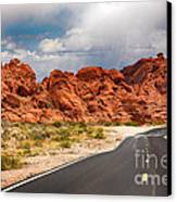 The Road To The Valley Of Fire Canvas Print