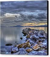 The Rocks Canvas Print by George Leontaras