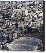 The Roman Theatre In The Middle Of The City Of Amman Jordan Canvas Print