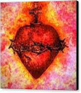 The Sacred Heart Of Jesus Christ Canvas Print