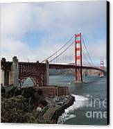 The San Francisco Golden Gate Bridge - 5d18909 Canvas Print by Wingsdomain Art and Photography