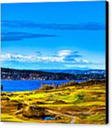 The Scenic Chambers Bay Golf Course Iv - Location Of The 2015 U.s. Open Tournament Canvas Print by David Patterson