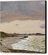The Seashore At Sainte Adresse Canvas Print by Claude Monet