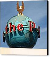 The Seattle Pi Globe Sign Canvas Print by Kym Backland