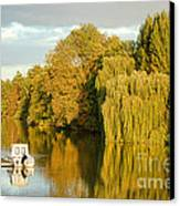 The Seine At Bonnieres Canvas Print by Olivier Le Queinec