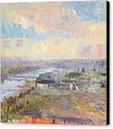 The Seine At Rouen Canvas Print