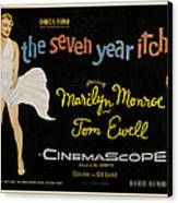 The Seven Year Itch Canvas Print by Georgia Fowler
