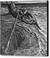 The Ship Sinks But The Mariner Is Rescued By The Pilot And Hermit Canvas Print