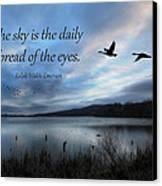 The Sky Canvas Print by Lori Deiter