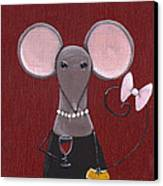 The Socialite  Canvas Print by Christy Beckwith