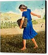 The Sower Of The Seed Canvas Print by Clive Uptton