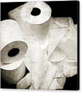 The Spare Rolls 2 - Toilet Paper - Bathroom Design - Restroom - Powder Room Canvas Print by Andee Design
