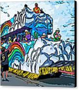 The Spirit Of Mardi Gras Canvas Print by Steve Harrington