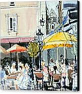 The Square At St. Malo Canvas Print by Felicity House