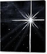 The Star Canvas Print by Judy M Watts-Rohanna