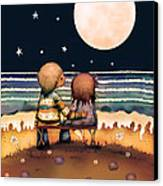 The Stars The Moon And The Tide Canvas Print by Karin Taylor