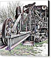 The Steam Shovel Canvas Print