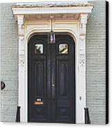The Stockade Door In Schenectady New York Canvas Print by Lisa Russo