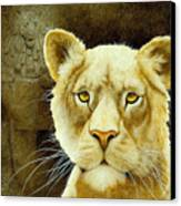 The Stone Lion... Canvas Print by Will Bullas