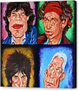The Rolling Stones Canvas Print by Dan Haraga