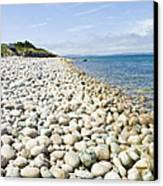 The Stones On Beach Canvas Print by Boon Mee