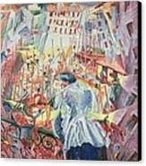 The Street Enters The House Canvas Print by Umberto Boccioni
