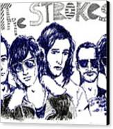 The Strokes Canvas Print by Mils Gan