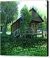The Summer Cabin Canvas Print by Dianne  Lacourciere