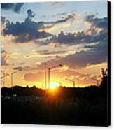 The Sun Goes Down Canvas Print by Maurice Smith