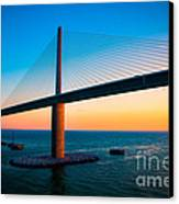 The Sunshine Under The Sunshine Skyway Bridge Canvas Print by Rene Triay Photography