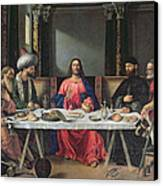 The Supper At Emmaus Canvas Print by Vittore Carpaccio