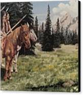 The Tetons Early Tribes Canvas Print