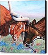 The Texas Twist Canvas Print by Amanda Hukill