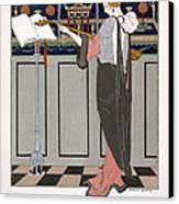 The Theorbo Player Canvas Print by Georges Barbier