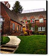 The Tke House On The Wsu Campus Canvas Print by David Patterson