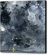 The Town Canvas Print by August Johan Strindberg