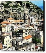 The Town Of Minori Canvas Print by H Hoffman