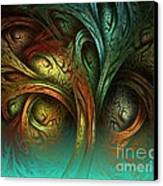 The Tree Of Life Canvas Print by Sandra Bauser Digital Art