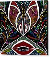The Troubled Tribe Canvas Print by Karunita Kapoor