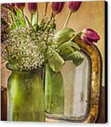The Tulips Stand Arrayed - A Still Life Canvas Print