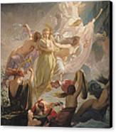 The Undines Or The Voice Of The Torrent Canvas Print by Ernest Augustin Gendron